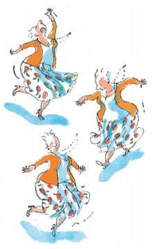 Jubelientje wordt wild - ill. dansende oma