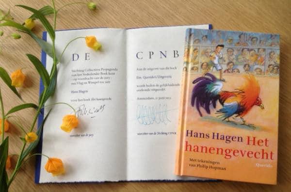 Het hanengevecht - oorkonde bloemen